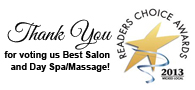 Readers Choice Award - Thank you for making us #1 Day Spa